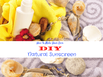 all natural DIY sunscreen and seashells
