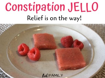Anti-constipation raspberry jello