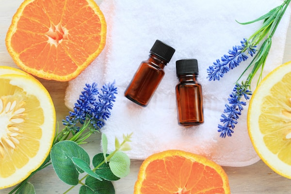 Homemade lavender essential oils carpet freshener