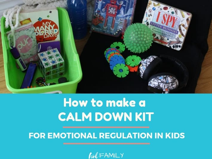 How to make a calm down kit for emotional regulation in kids